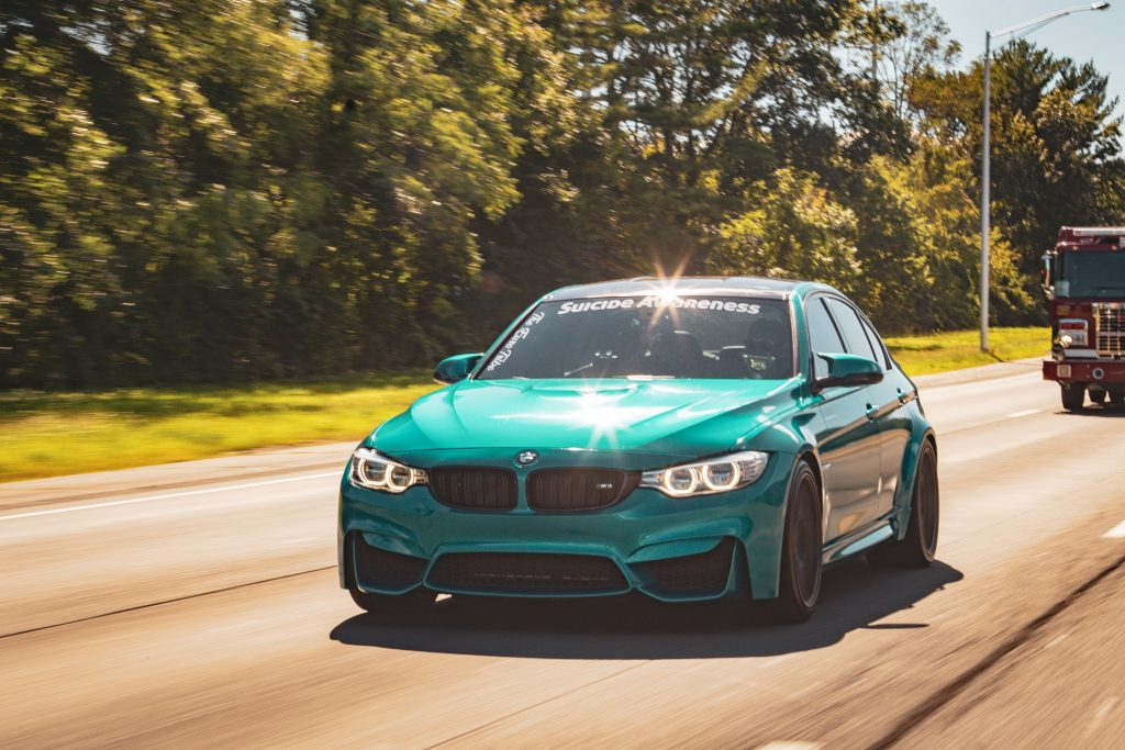 BMW VINYL WRAPPED IN ATOMIC TEAL